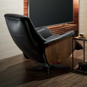 電動リクライニングパーソナルチェア 1人掛けソファー  サイド木製タイプ 写真