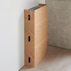 大容量曲木スリムルーター収納 ハイタイプ 写真