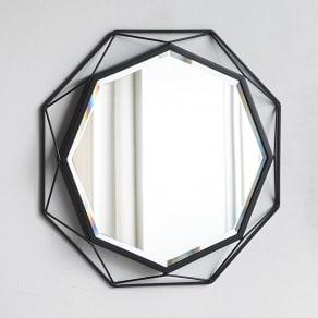 アイアンウォールミラーシリーズ 壁掛けミラー S幅50cm高さ50cm 写真