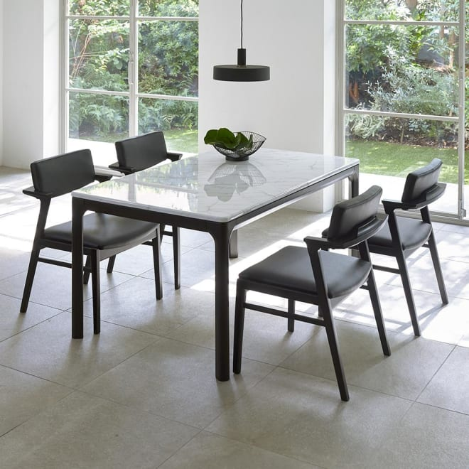 ALMER/アルメール 大理石調ダイニングテーブル 幅145 ※本ページではテーブルのみの販売です。