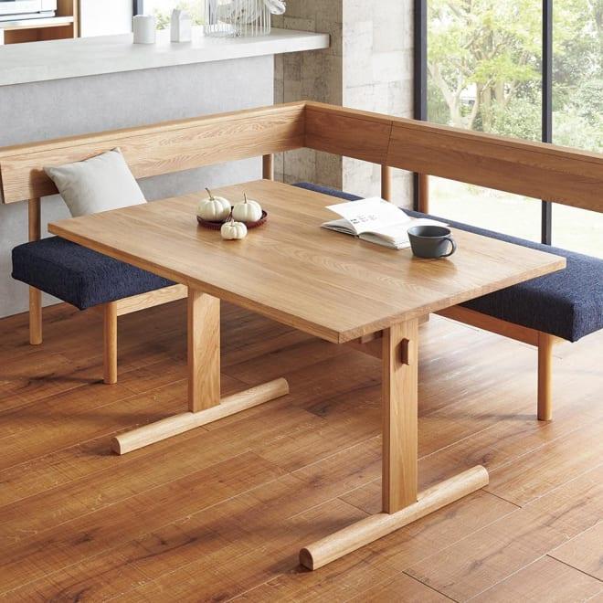 NORD/ノルド ダイニングテーブル幅120 オーク コーディネート例 ※お届けはテーブル幅120cmです。 ※チェアは商品に含まれません。