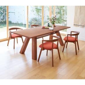 プーロ天然杢ダイニングシリーズ テーブル 幅210cm 写真