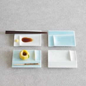 お箸が置けるパレット皿 幅13cm 4枚組  写真