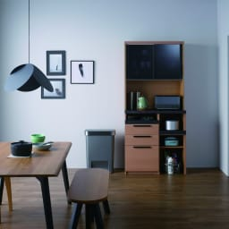 Boulder/ボルダー 石目調天板キッチンシリーズ ボード 幅90cm 奥行50cm ウォルナット 機能的な設計で、キッチンのあれこれがまとめて片付きます。