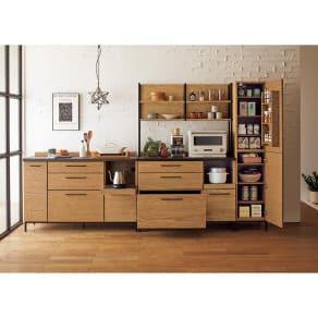 Mattone/マットーネ キッチンシリーズ 幅140cm カウンター 写真
