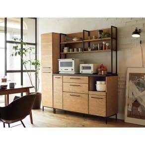 Mattone/マットーネ キッチンシリーズ 幅140cm キッチンボード 写真