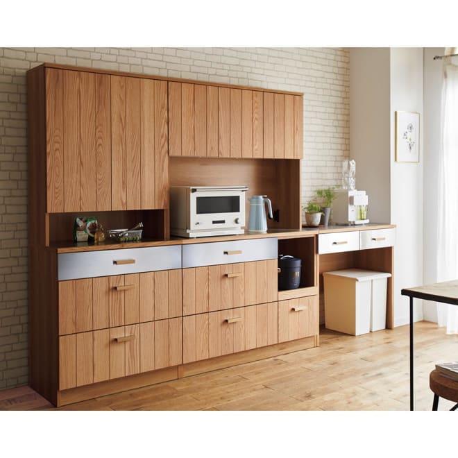 Torua/トルア キッチンボード 幅120cm キッチンボード [コーディネート例]左:カップボード 中央:キッチンボード 右:オープンカウンター※お届けはキッチンボードのみとなります