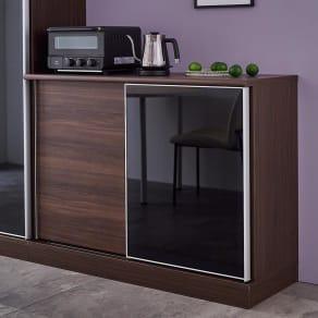 Orga/オルガ 引き戸キッチン収納 カウンター 幅120cm 写真