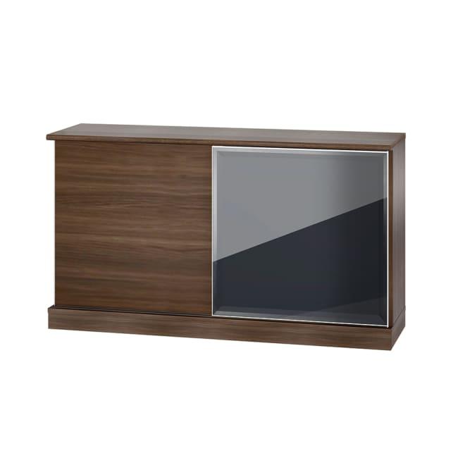 Orga/オルガ 引き戸キッチン収納 カウンター 幅160cm (イ)ダークブラウン