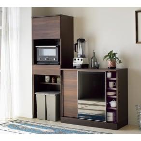 Orga/オルガ 引き戸キッチン収納 ダストボード 幅60cm 写真