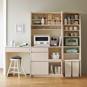 Enkel/エンケル キッチンシリーズ 幅50cm ユーティリティラック 写真