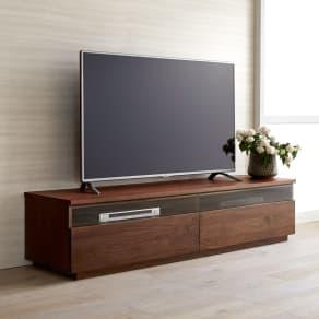 ウォルナット天然木テレビ台 幅180cm 写真