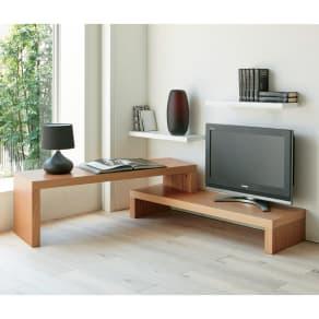 HS Cliff/エイチエスクリフ 伸縮式テレビ台テーブル 幅120cm[temahome テマホーム] 写真