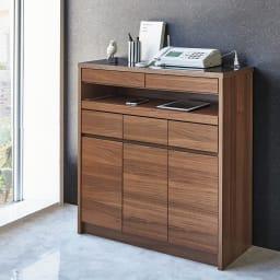 Granite/グラニト モダンFAX台 幅85cm 暮らしの家電がキレイにまとまるスマートモダンな一台です。