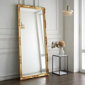 イタリア製スタンドミラー(鏡)大 幅83cm高さ181.5cm 写真