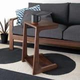 a tempo/アテンポ ウォルナット天然木 ソファサイドテーブル 幅36cm 写真