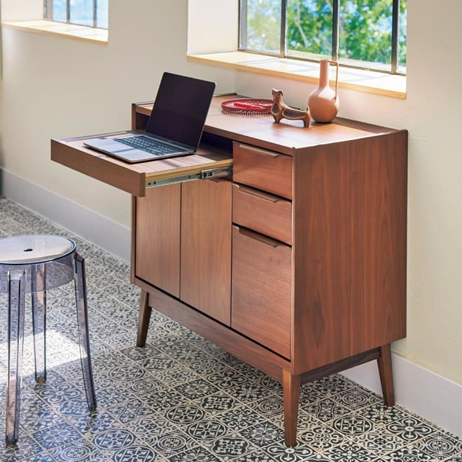 Jalka/ヤルカ ウォルナットシリーズ パソコン収納 幅87.5cm 世代を超えて愛される北欧風家具デザイン。
