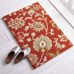 ベルギー製Adriana/アドリアーナ ウィルトン織マット レッド ※写真は約60×90cmです。