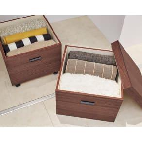 Apilar/アピラ 桐製収納ボックス 奥行45cm 2段 写真