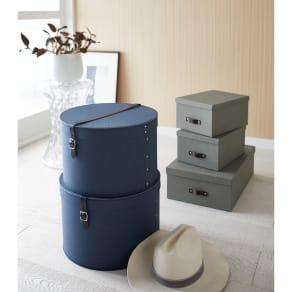 帽子収納ボックス 2個セット[BIGSOBOX/ビグソーボックス]スウェーデン生まれの収納ボックス 写真