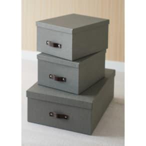 収納ボックス 3個セット[BIGSOBOX/ビグソーボックス]スウェーデン生まれの収納ボックス 写真