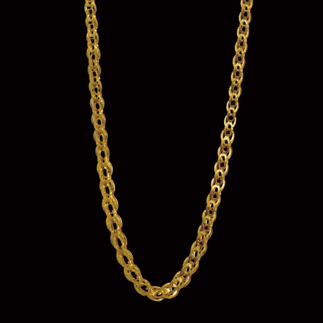 純金 リバーシブル デザインネックレス