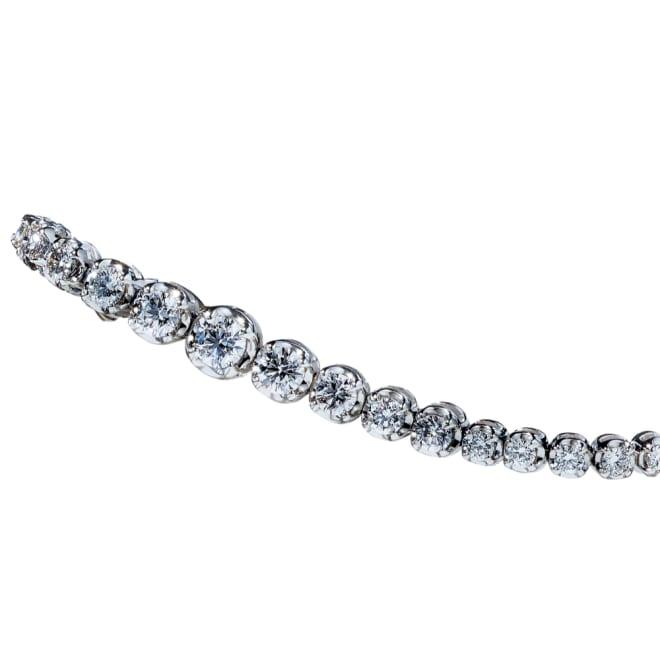 K18WG 2.3ctダイヤ グラデーション ブレスレット