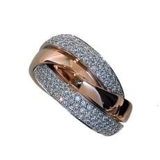 K18 0.7ctダイヤ デザインリング