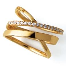 K10 0.14ctダイヤ デザインリング