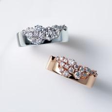 K18 0.5ctダイヤ デザイン リング