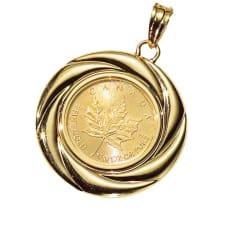 純金 1/10オンス メープルコイン ペンダントヘッド