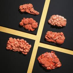 大倉珊瑚店/ユキコ・オオクラ  珊瑚 彫板 ポンポン菊 大倉珊瑚店 珊瑚 彫板 シリーズ
