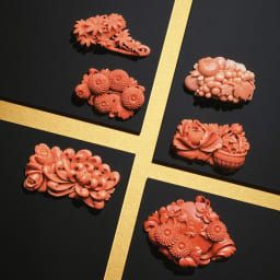 大倉珊瑚店/ユキコ・オオクラ  珊瑚 彫板 乱菊 薔薇 大倉珊瑚店 珊瑚 彫板 シリーズ