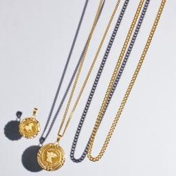 純金 1/25オンス ホースコイン ペンダントヘッド コーディネート例