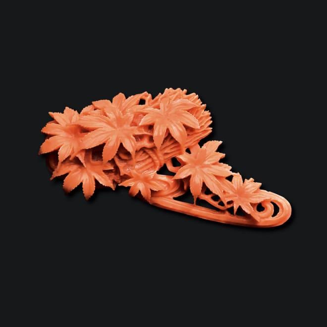 大倉珊瑚店/ユキコ・オオクラ  珊瑚 彫板 もみじ