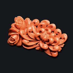 大倉珊瑚店/ユキコ・オオクラ  珊瑚 彫板 乱菊 薔薇
