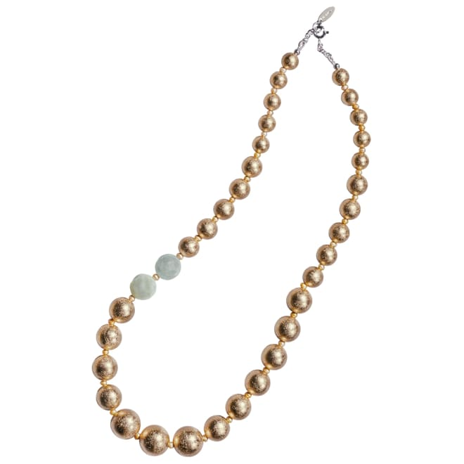 HAKUZA/箔座 箔珠 ネックレス(久遠色)