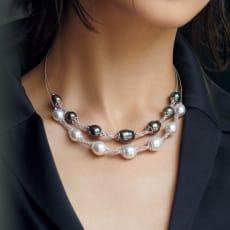 K18 パール デザイン ネックレス