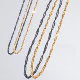 純金 ネックレス (イ)スクリュー 左から10g、30g