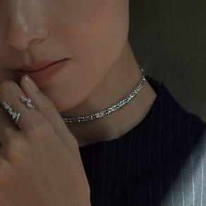K18 マグネット フレキシブル ネックレス兼ブレスレット 写真