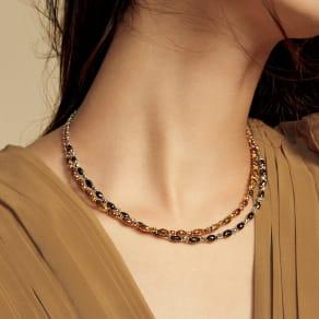 K18 カラーダイヤ デザイン ネックレス 写真