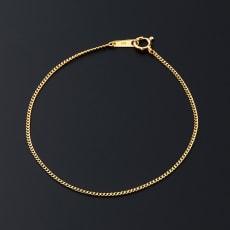 純金 平Vカット 喜平ブレスレット 18cm