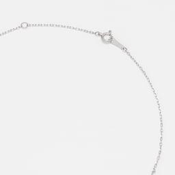 Pt 1ct ダイヤ デザイン ネックレス 引き輪式