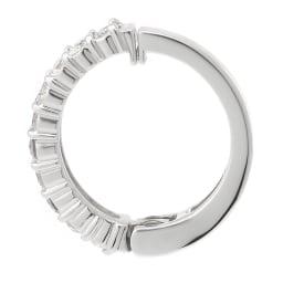 K10 0.5ct ダイヤ ピアリング (イ)WG 挟み込み式