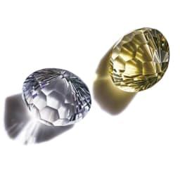 K18 カラーストーン キャンディ リング 昭和時代の貴重なルース。上部とサイドの異なるカットの効果で、万華鏡のような輝きを放つ。