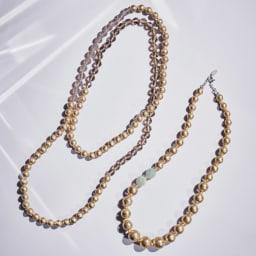 HAKUZA/箔座 箔珠 ロングネックレス(久遠色) HAKUZA/箔座 箔珠 ネックレス シリーズ