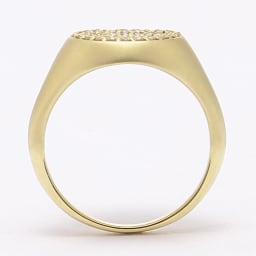 K18 0.3ct ダイヤ デザイン ピンキーリング SIDE