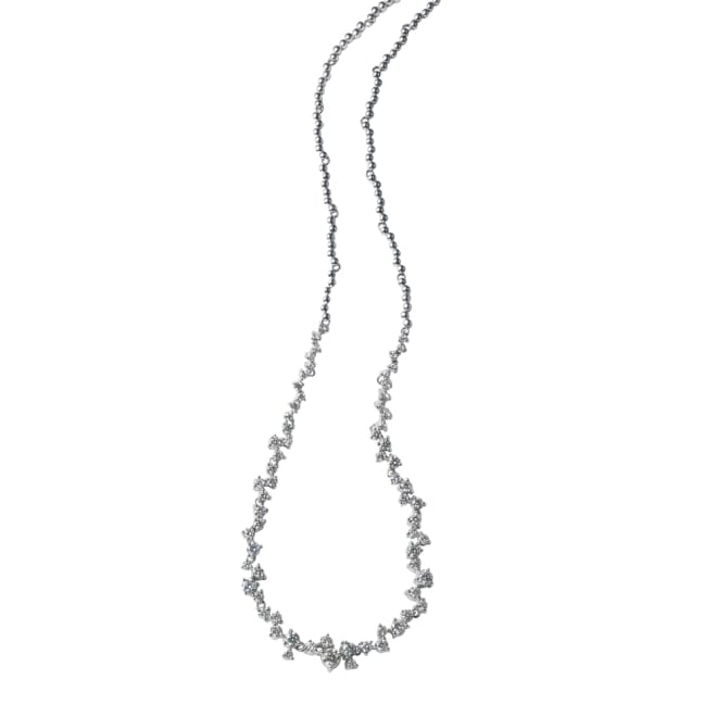 K18WG 3.5ct 星屑のダイヤネックレス