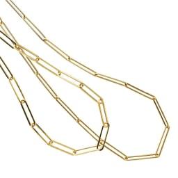 UNOAERRE/ウノアエレコラボ K18 クリップ ネックレス 左から 【59.5cm】、【70cm】