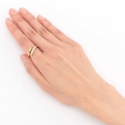 K18 ダイヤ フィットリング 【0.3ct】(ア)YG 着用例
